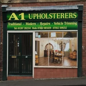 A1 Upholsterers shop front